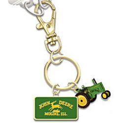 John Deere Model G Tractor Charm Key Chain