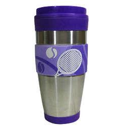 Purple Tennis Travel Tumbler