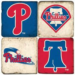Philadelphia Phillies Tumbled Italian Marble Coasters