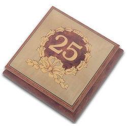 25th Anniversary or Birthday Musical Jewelry Box