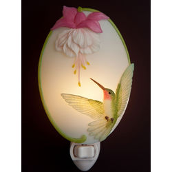 Hummingbird and Fuchsia Night Light