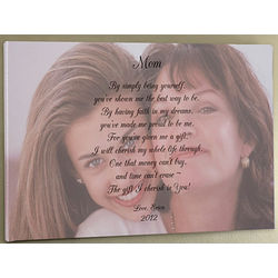 Personalized Photo Canvas Art with Poem