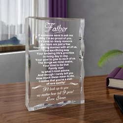 Personalized a Quality Man Clear Plaque