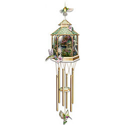 Thomas Kinkade Timeless Garden Indoor Wind Chime Sculpture