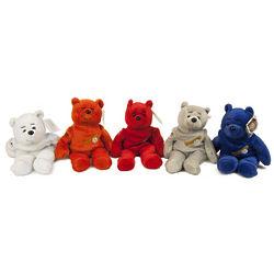 500 Home Run Club Bean Bag Teddy Bears