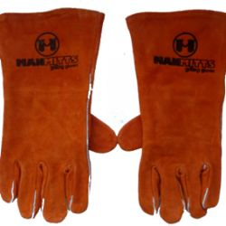 Brown Leather Grilling Gloves