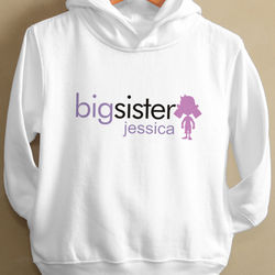 Personalized Big Sister or Brother Hooded Sweatshirt