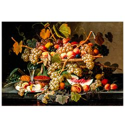 Fruit Still Life Painting Tempered Glass Cutting Board