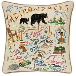 Adirondacks National Hand Embroidered Park Pillow
