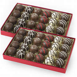 Two Gift Boxes of Chocolate Truffles