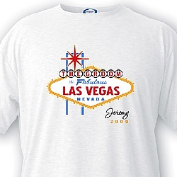 Personalized Vegas Bachelor Party T-Shirt