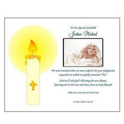 Personalized Godchild Poetry Print