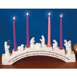 Nativity Advent Candleholder