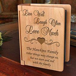Personalized Live Love Laugh Wooden Photo Album