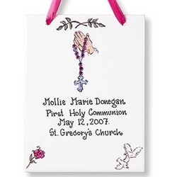 Personalized Communion Tile for Girl