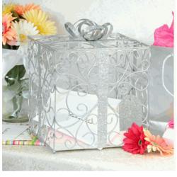 Silver Wedding Card Box