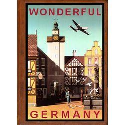 Germany 4 Travel Art Handmade Leather Photo Album