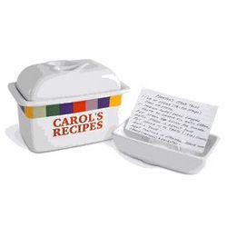 Personalized Sonoma Recipe Box
