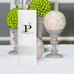 Personalized Nature's Bliss Square Pillar Unity Candle