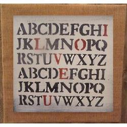 Love You Alphabet Slat Sign