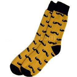 Moustache Crew Socks