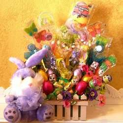 Purple Bunny Treat Basket