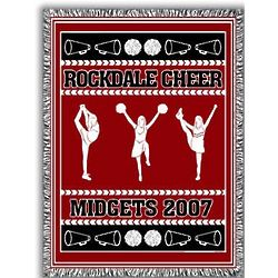 Personalized Classic Cheer Team Afghan