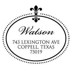 Elegant Fleur-de-lis Personalized Return Address Stamp