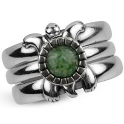 Turtle Mosaic Stackable Rings