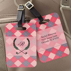 Women's Personalized Golf Bag Tags