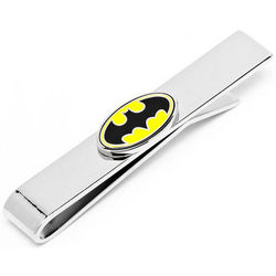 Oval Batman Logo Tie Bar