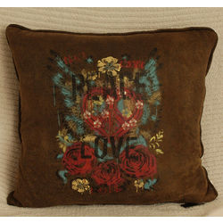 Street Revival Peace Love Throw Pillow