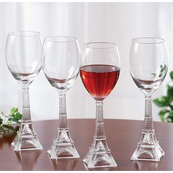 Eiffel Tower Wine Glasses