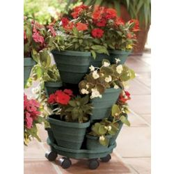 Small 3-Tier Rolling Planter