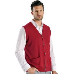 Men's Cashmere Sleeveless Cardigan Vest