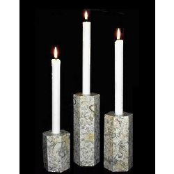 Coral Marble Candle Holder