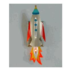 Flaming Rocket Night Light