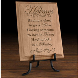 Personalized My Family is a Blessing Wooden Plaque