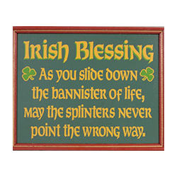 Irish Blessing Framed Sign