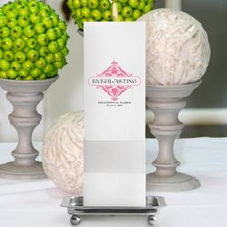 Personalized Everlasting Unity Square Pillar Candle with Stand