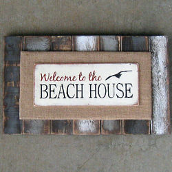 Welcom to the Beach House Slat Sign