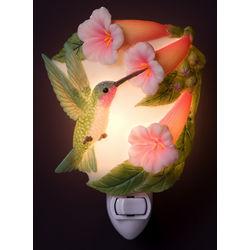 Hummingbird and Trumpet Flower Night Light