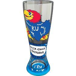 Kansas Jayhawks Handpainted Pilsner Glasses