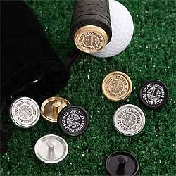 Deluxe Personalized Golf Club and Ball Markers