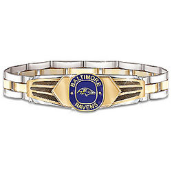 Baltimore Ravens Stainless Steel Men's Bracelet