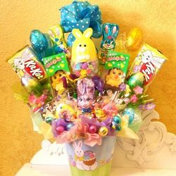 Easter Cookies and Chocolates Gift Basket