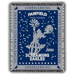 Extreme Personalized Cheerleading Afghan