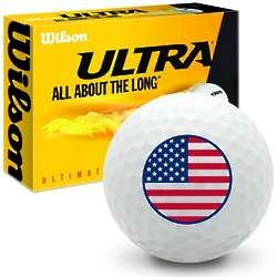 4th of July American Flag Ultimate Distance Golf Balls