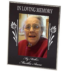 Loving Memory Floral Photo Frame
