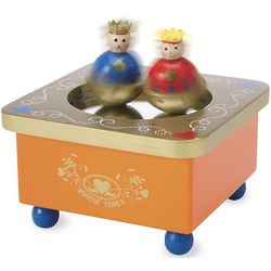 Dancing Royals Wooden Music Box